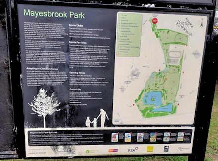 mayesbrook park sign c