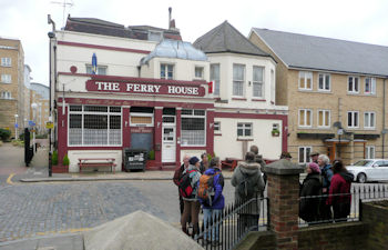 The Ferry House pub.